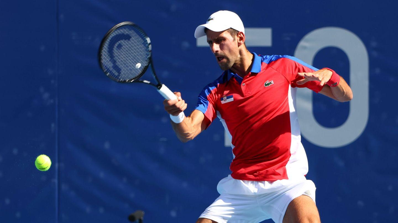 Djokovic, en pleno partido. (Reuters)