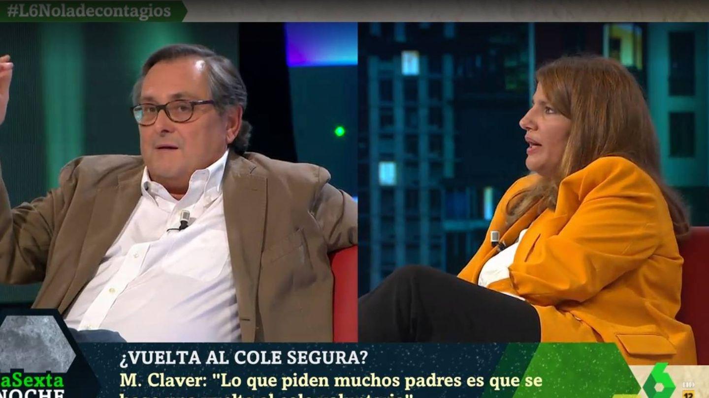 Marhuenda y Claver discutiendo en 'La Sexta noche'. (Atresmedia).