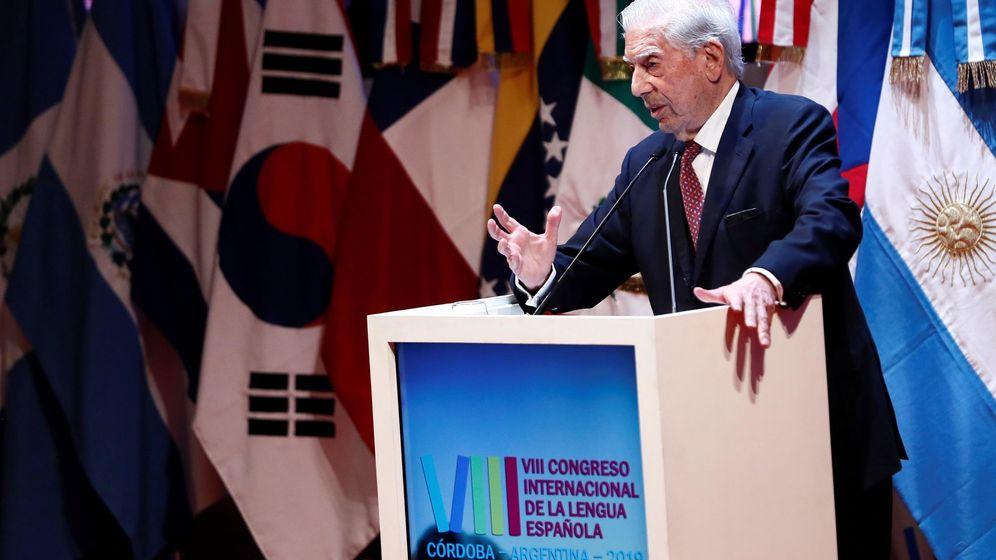 Foto: Mario Vargas Llosa en la sesión inaugural del VIII Congreso Internacional de la Lengua Española. (EFE)