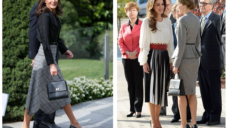 La reina Letizia y su bolso. (Getty)