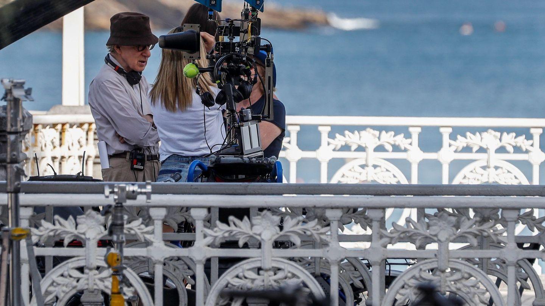 Woody Allen, rodando en San Sebastián. (EFE)