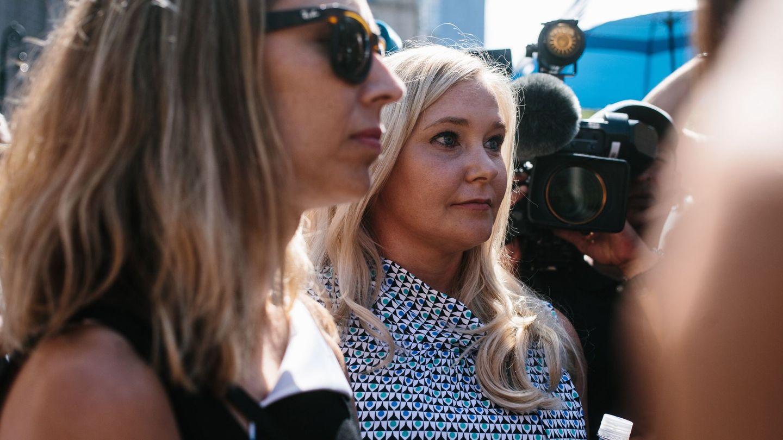 Virginia Roberts, a su llegada al tribunal de Nueva York. (EFE)