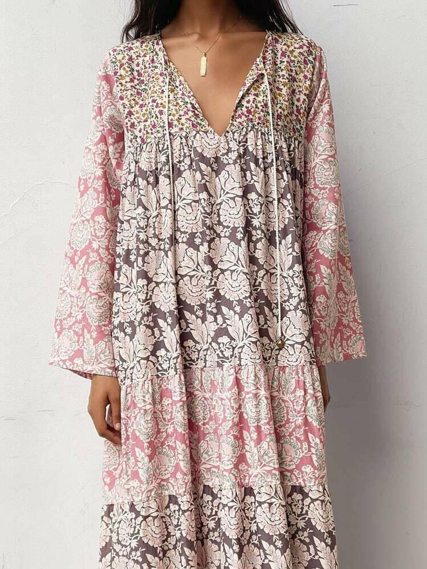 El vestido de Zara que lleva Tamara Falcó. (Cortesía)