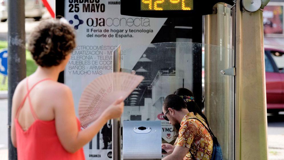 Foto: Varias zonas de Navarra, País Vasco y alto Ebro han superado los 40 grados. (EFE)