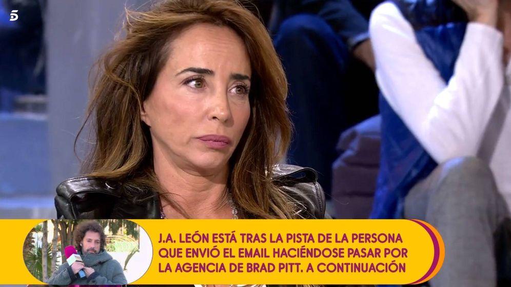 Foto: María Patiño en 'Sálvame'. (Mediaset España)