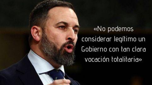 Las frases de Abascal (Vox) en la investidura: En España no hay ley por culpa de Sánchez