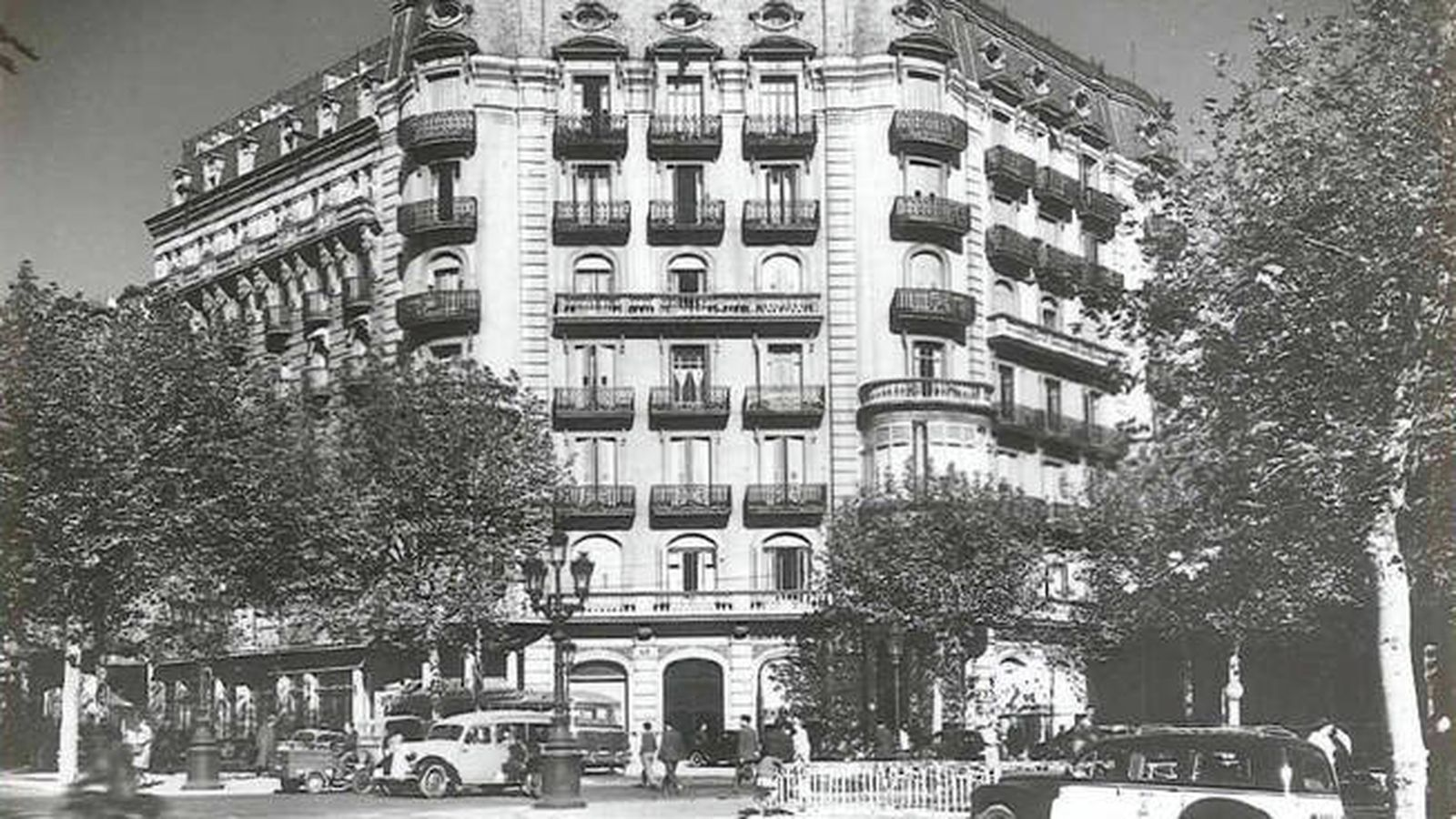 Foto: El hotel Majestic en una imagen del siglo pasado.