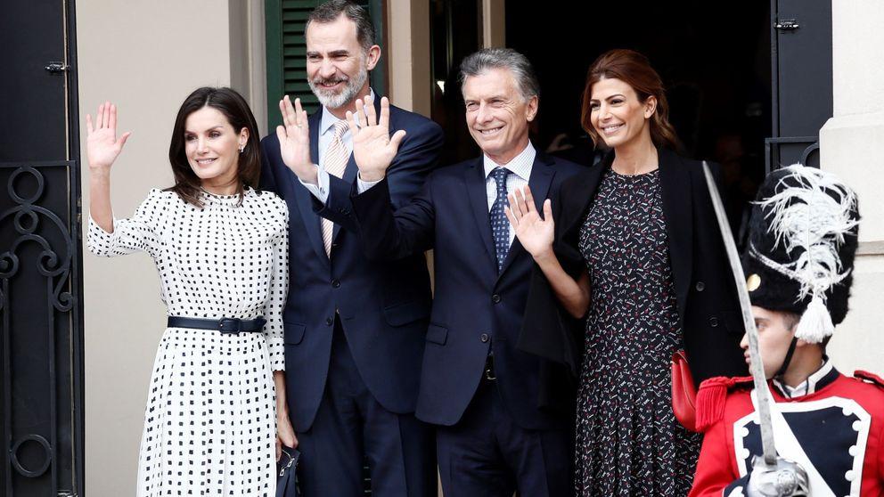 Tras 5 grandes estrenos, Letizia cierra su agenda en Argentina con un look reciclado
