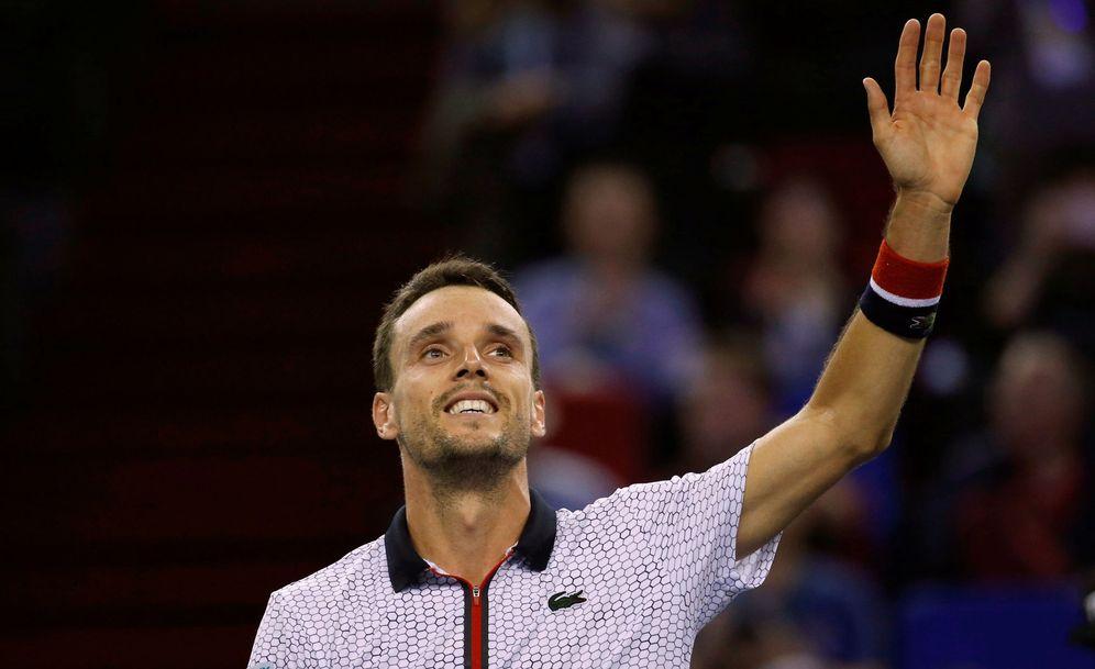 Foto: Roberto Bautista, tras ganar a Djokovic (Reuters)