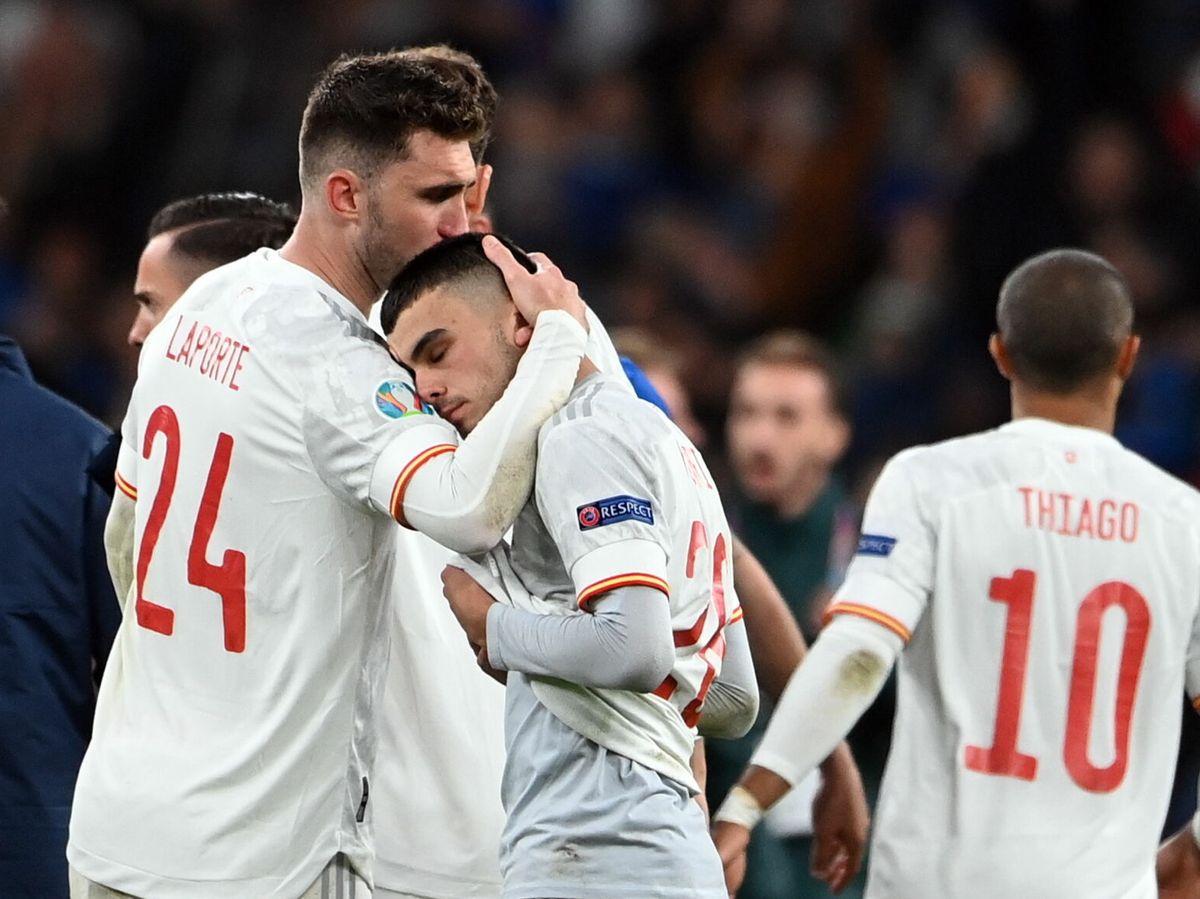 Foto: España, tras perder contra Italia. (EFE)