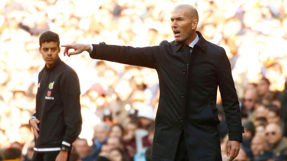 Foto: Zinédine Zidane, el pasado sábado ante el Espanyol. (Reuters)