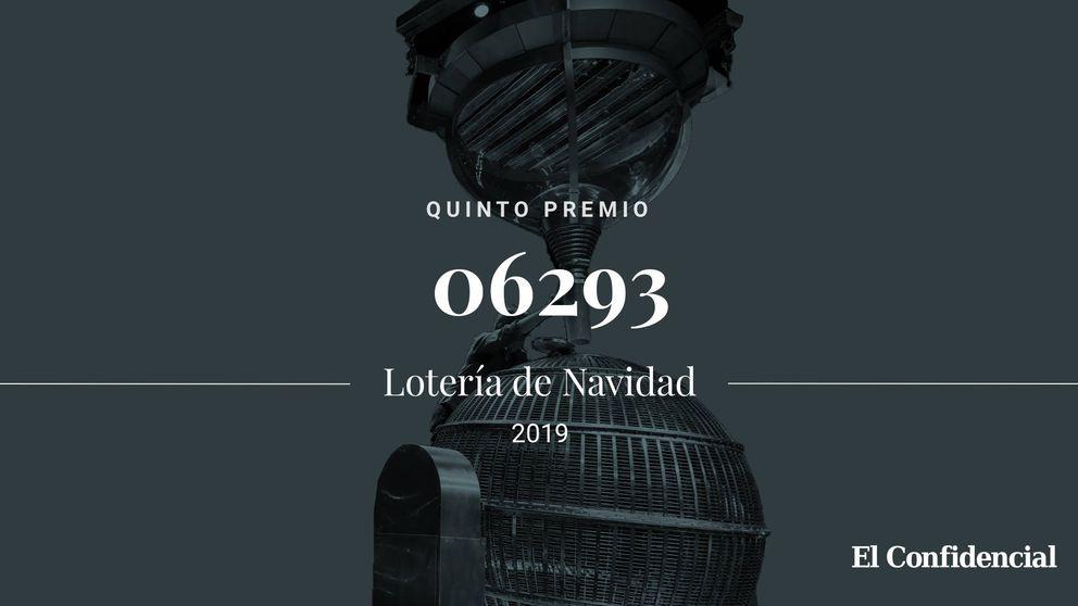 El 06293, segundo quinto premio de la Lotería de Navidad: 60.000 euros a la serie