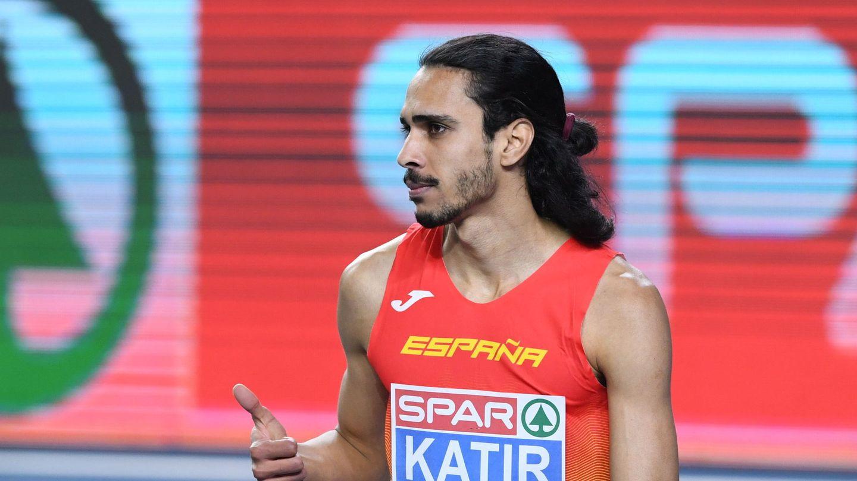 Mo Katir, representando a España en una pasada competición. (Efe)