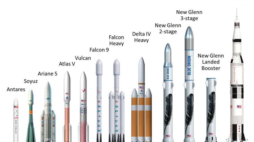 El creador de Amazon desvela el diseño de su próximo gran cohete espacial