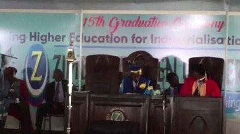 Confusión en Zimbabue tras la aparición de Mugabe en un acto universitario