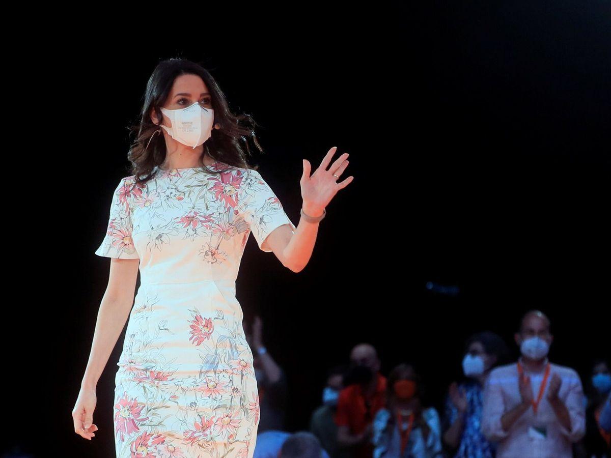 Foto: Inés Arrimadas, en la clausura de la primera convención política. (EFE)