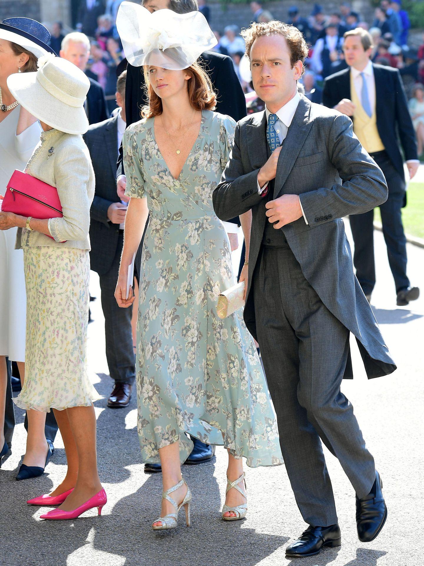 Tom y Laura Inskip en la boda de los duques de Sussex. (Reuters)