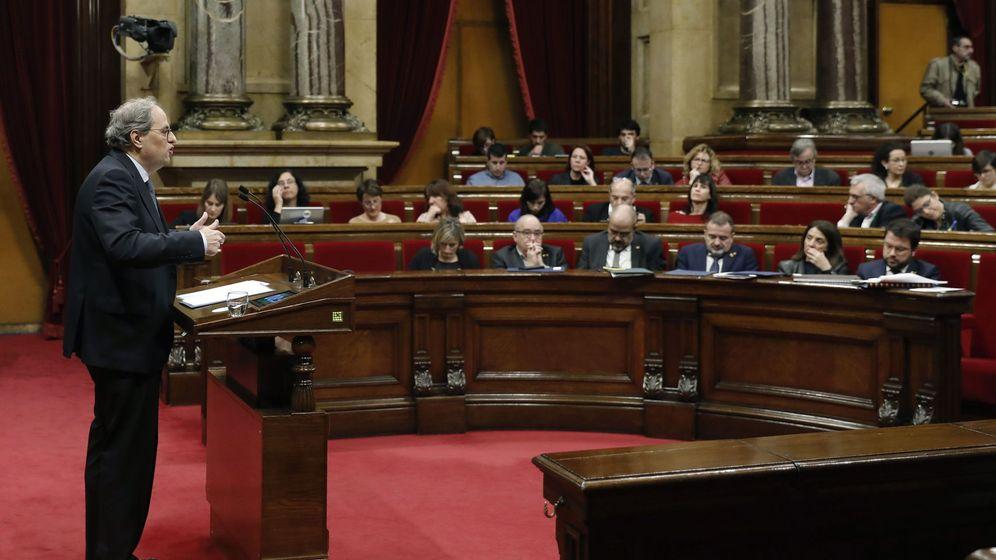 Foto: Quim Torra en el debate de los Presupuestos catalanes. (EFE)
