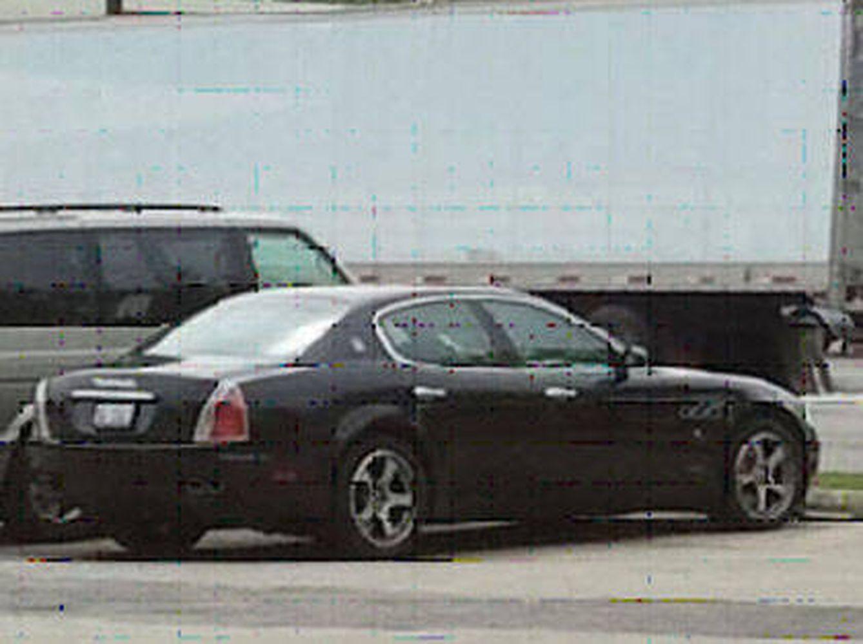 El Maserati en el que presuntamente Arnoldo Jiménez asesinó a su esposa. (Policía de Burbank)