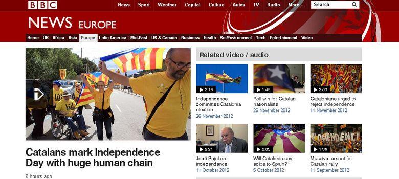 Foto: Imagen de la web de la BBC este miércoles.