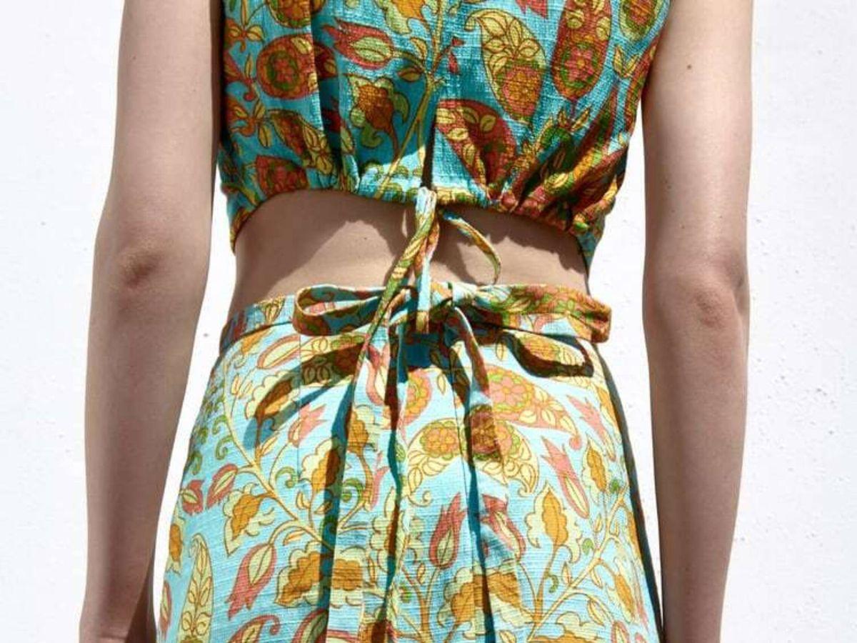 Foto: El conjunto de top y falda de Zara. (Cortesía)
