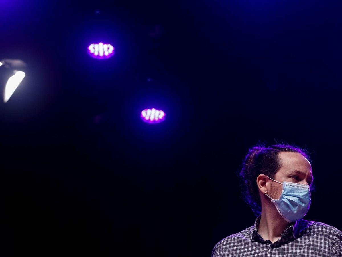 Foto: Iglesias en el acto final de la campaña de En Comú Podem. (EFE Quique García)