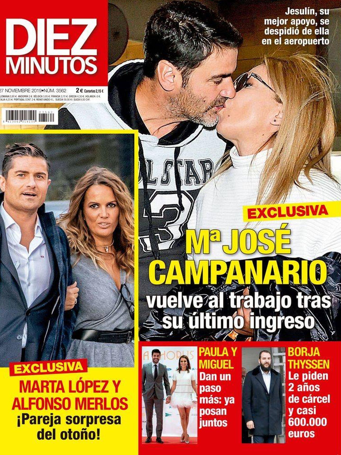 Portada de la revista con las fotos de Marta y Alfonso. (Diez Minutos)