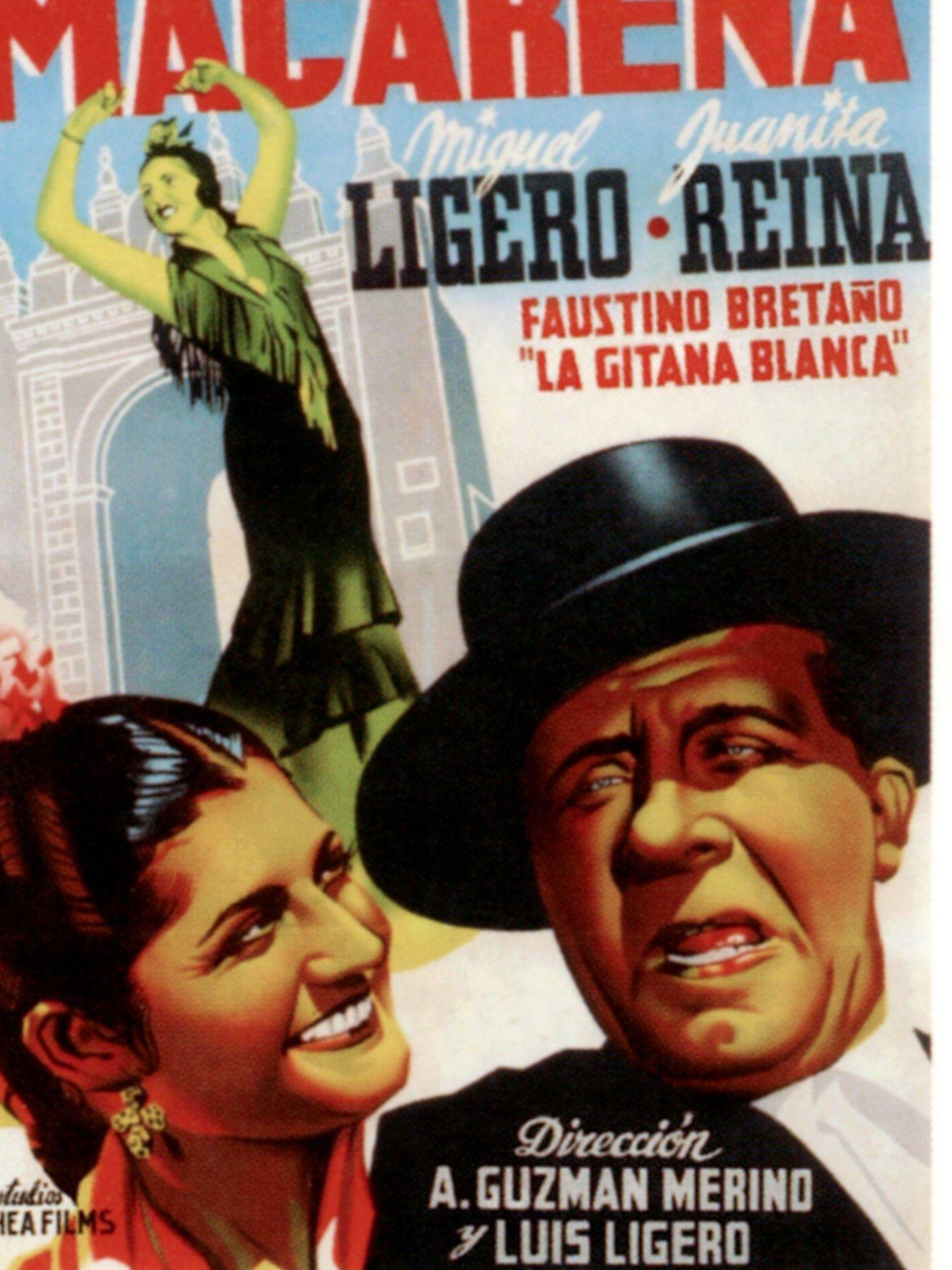 La estrella junto a Miguel Ligero en una película de 1944. (Cordon Press)