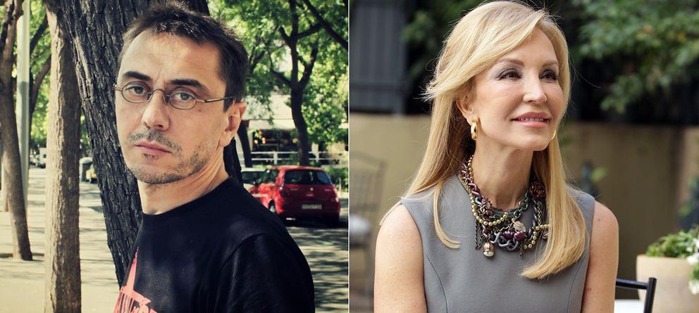 Foto: Juan Carlos Monedro y Carmen Lomana en dos imágenes de archivo (Elena Blanco / Gtres)