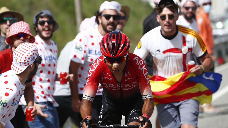 Nairo Quintana en acción. (EFE)