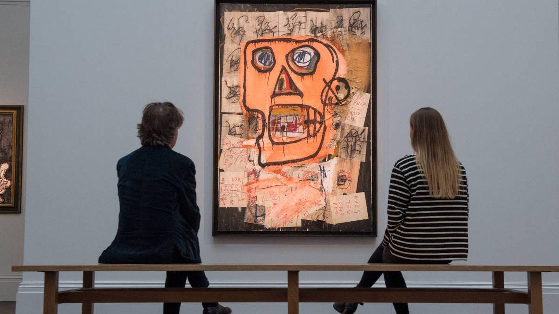 Una de las obras de Basquiat. (Getty)