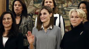 El problema del nuevo look de Doña Letizia está en las medias