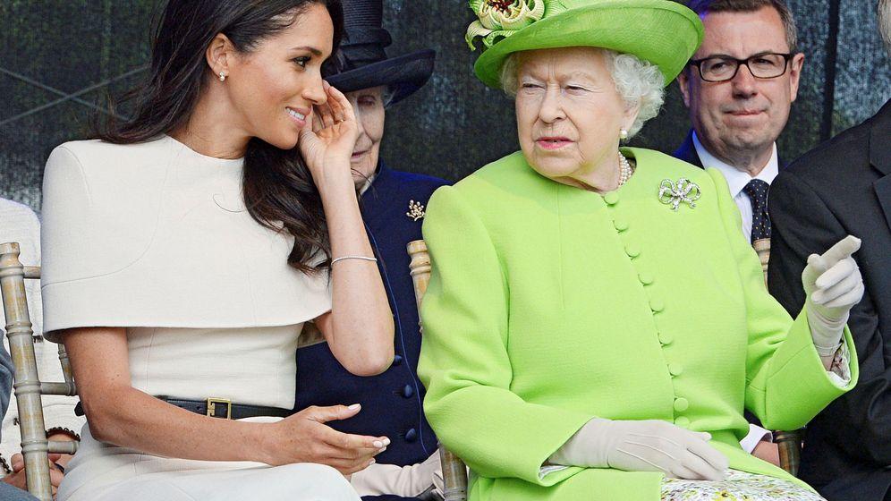 Foto: Isabel II y Meghan Markle. (Reuters)