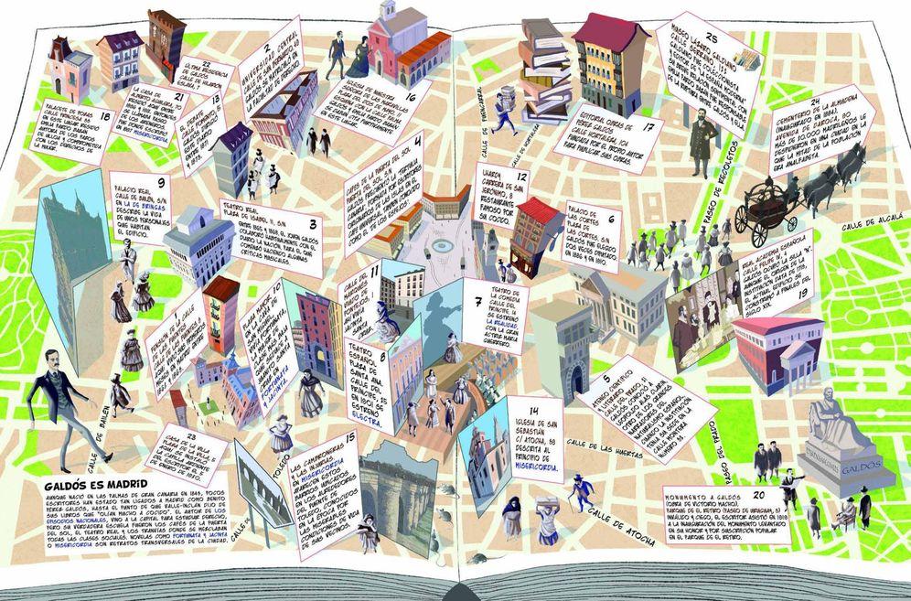 Foto: Así es el mapa 'Galdós es Madrid'. (Ayuntamiento de Madrid)
