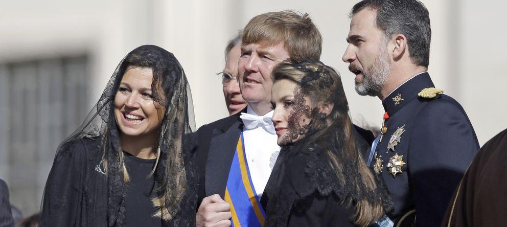Foto: Los príncipes de Asturias y los Reyes de Holanda en la misa inaugural del Papa Francisco I (I.C.)