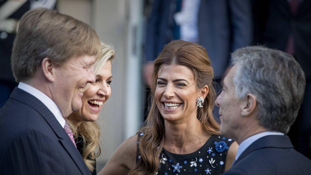 Foto: Los reyes de Holanda junto al matrimonio Macri. (Getty)