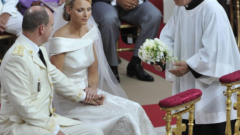 Los príncipes, durante su enlace. (EFE)