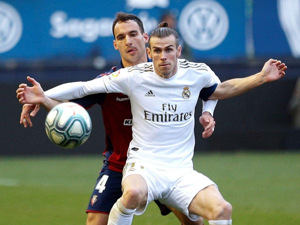 Foto: Gareth Bale frente a Osasuna, este domingo. (EFE)