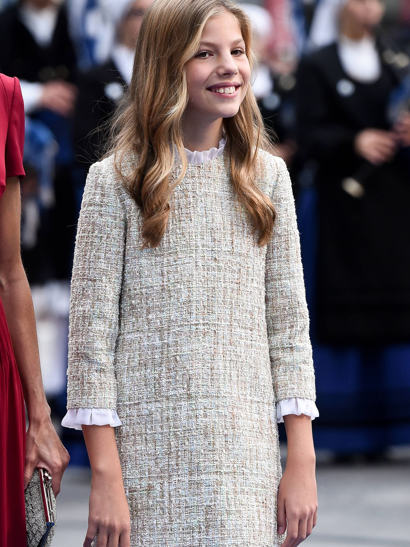 La infanta Sofía, a su llegada al teatro Campoamor. (Getty)