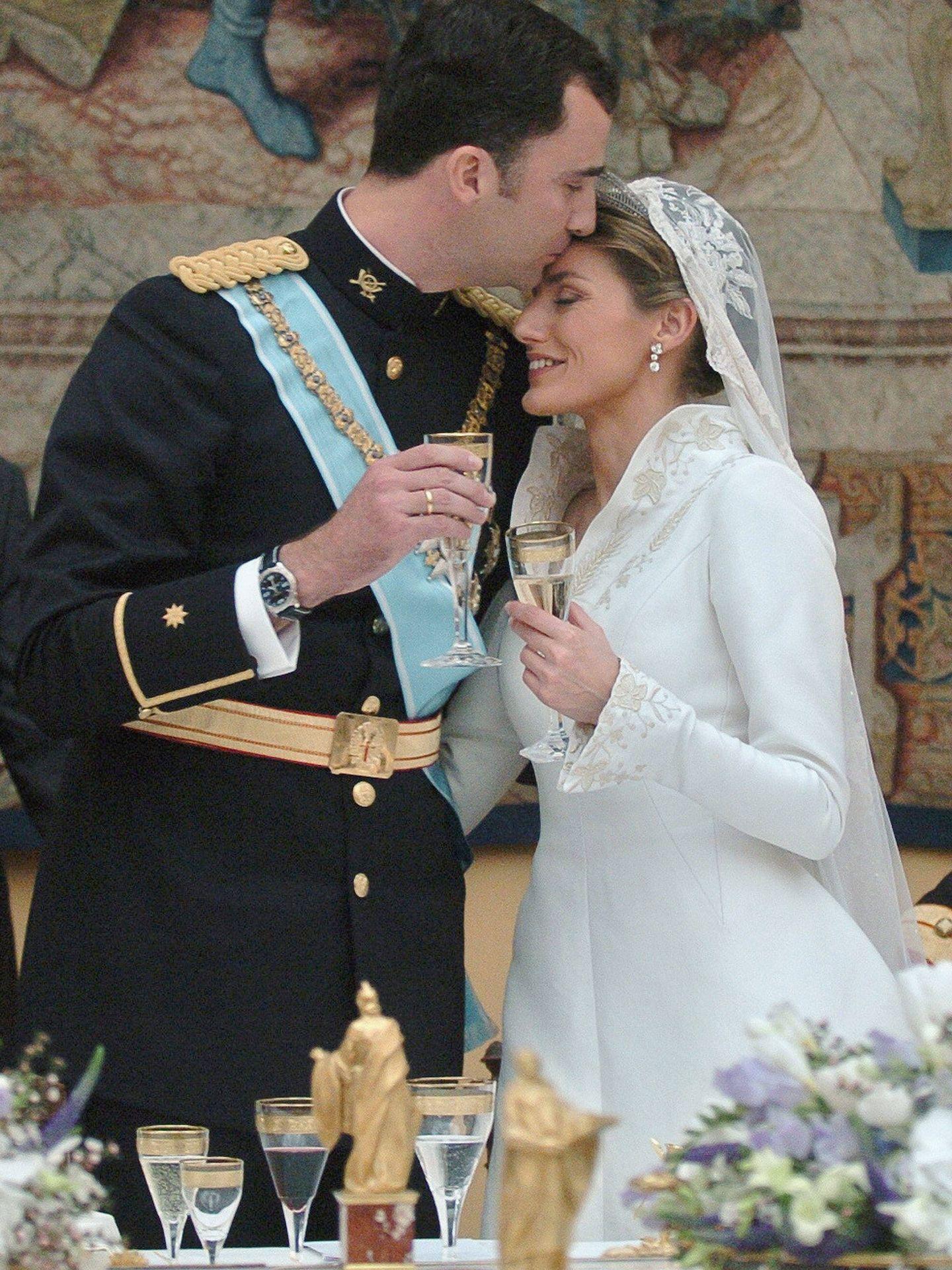 Don Felipe y doña Letizia el día de su boda. (Getty)