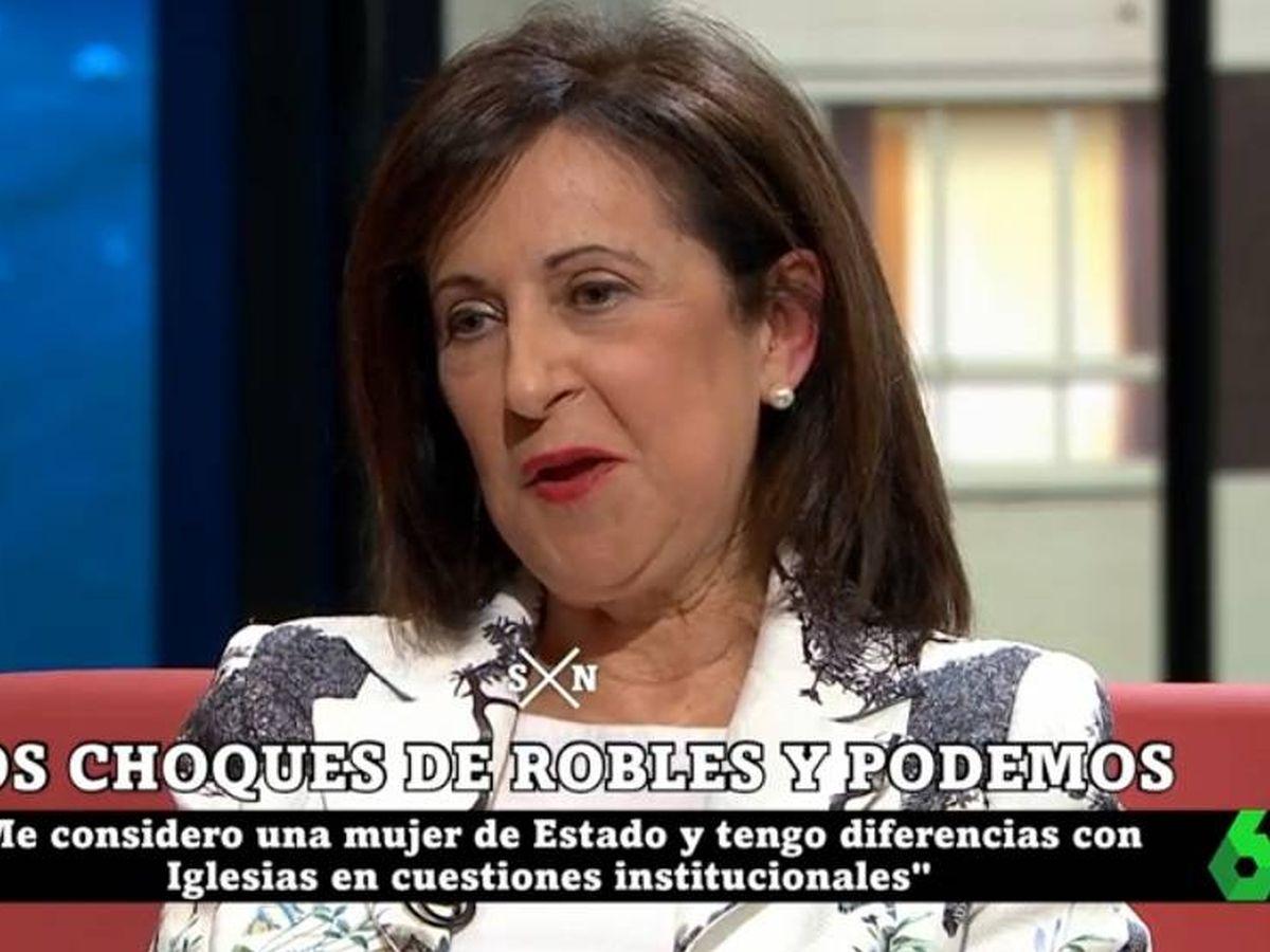 Foto: Margarita Robles, en 'La Sexta noche'. (Atresmedia).