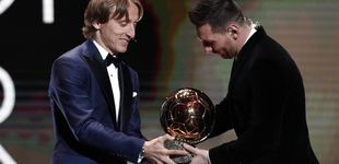 Post de La emoción de Messi y la caballerosidad de Luka Modric en la entrega del Balón de Oro
