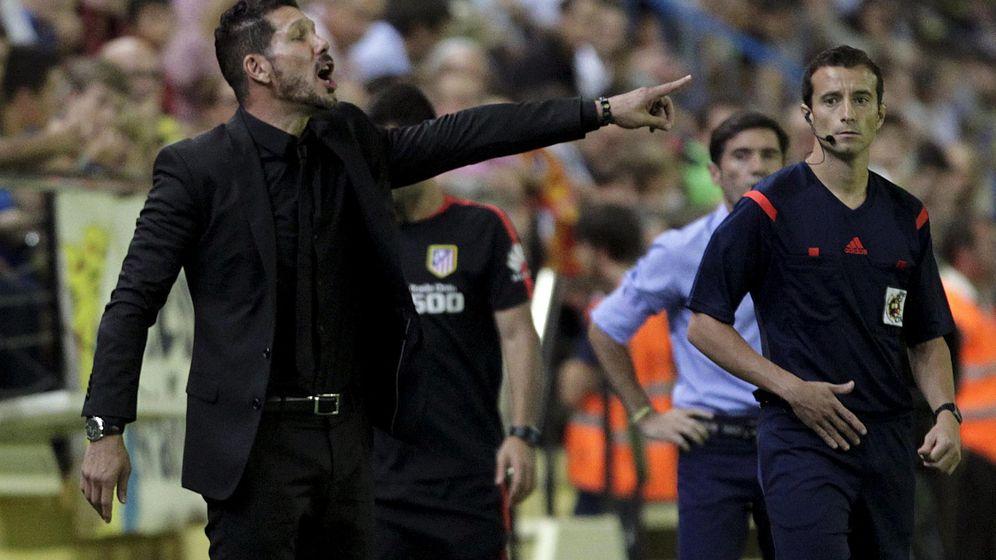 Foto: Simeone, el sábado en El Madrigal (REUTERS)