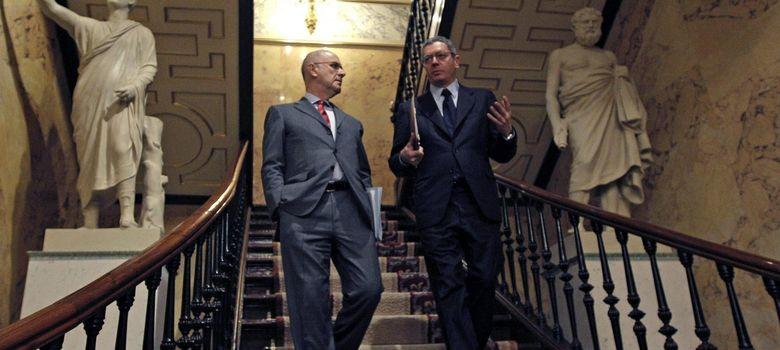 Foto: El ministro de Justicia, Alberto Ruiz Gallardón y Josep Antoni Durán y Lleida. (EFE)