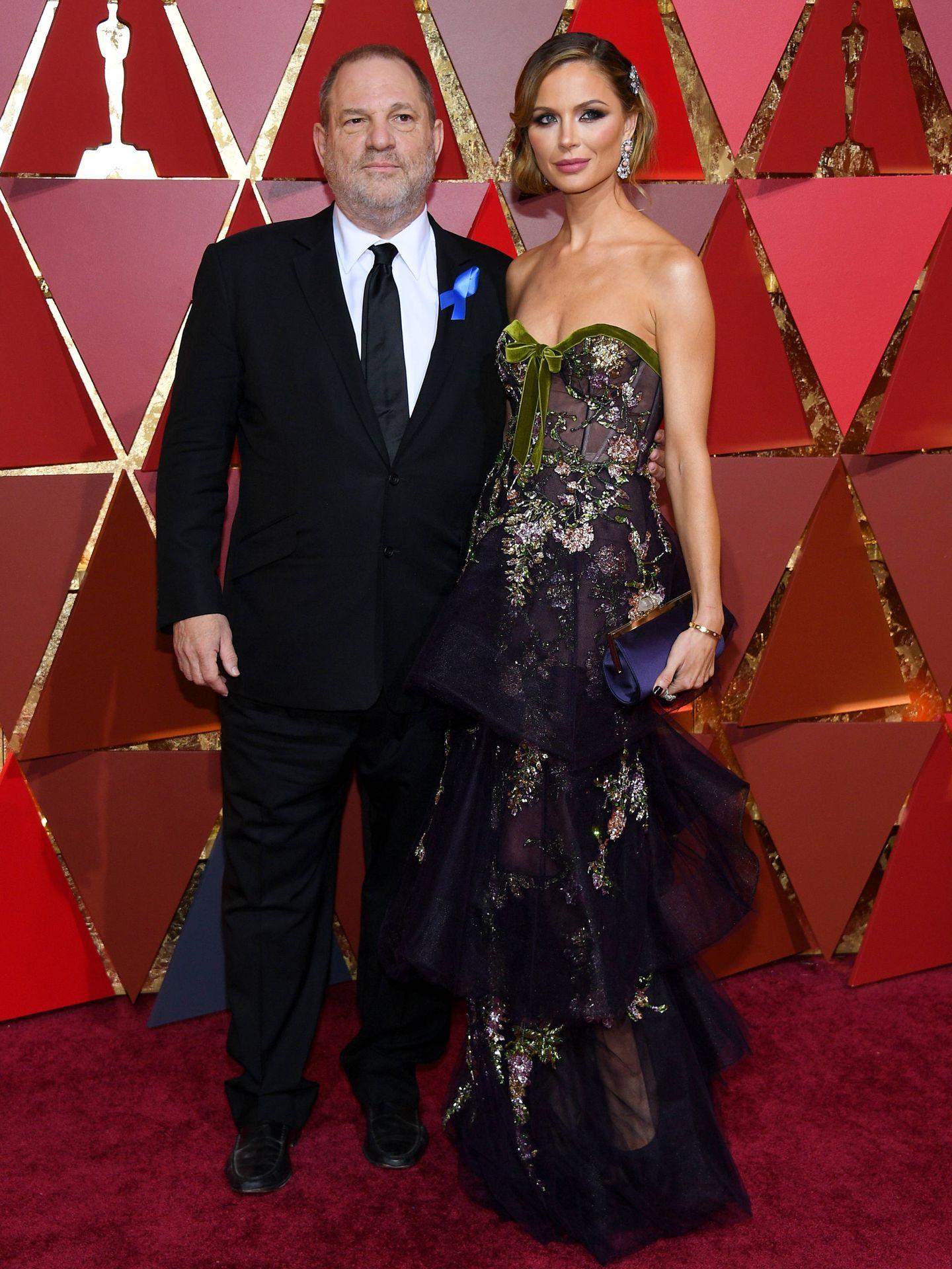 Weinstein y Chapman, en los Oscar de 2017. (Getty)
