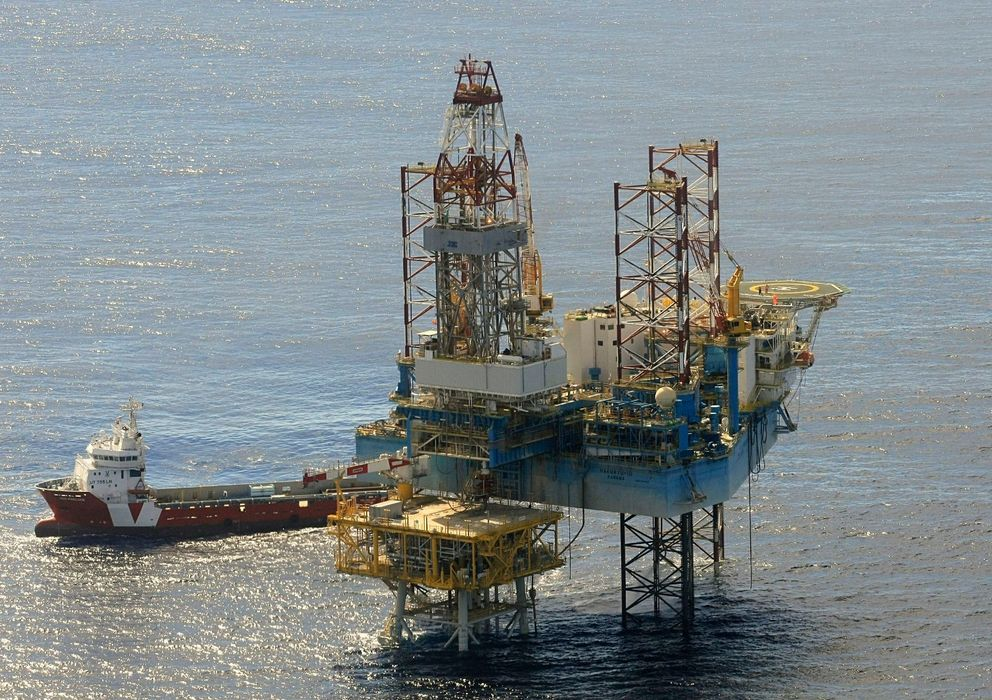 Foto: Plataforma de almacén de gas del proyecto Castor. (EFE)