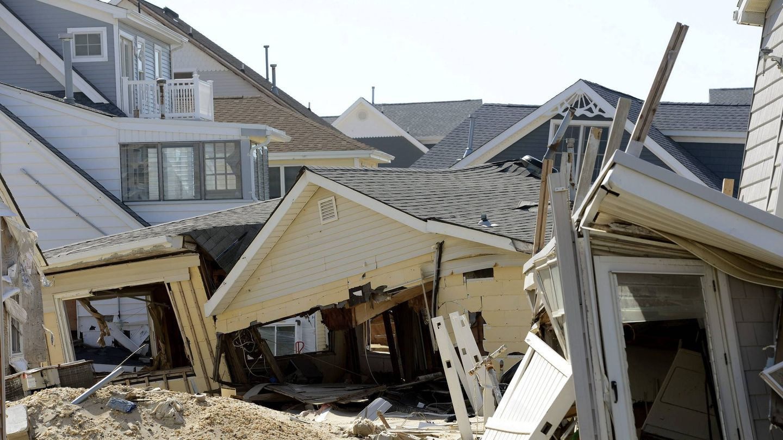 Casas derruidas por el huracán Sandy (EFE)