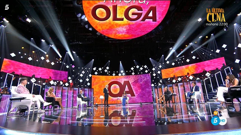 Olga Moreno, en 'Ahora, Olga'. (Mediaset)
