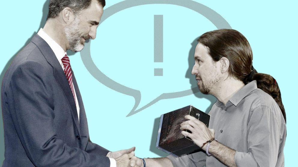 Así utilizó Podemos la foto de Iglesias con Felipe VI para viajar al centro