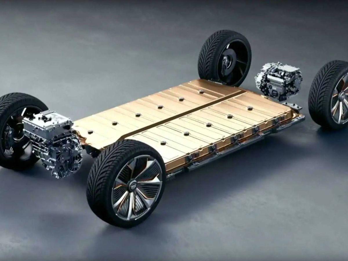 Foto: Las baterías de un coche eléctrico de General Motors. (GM)